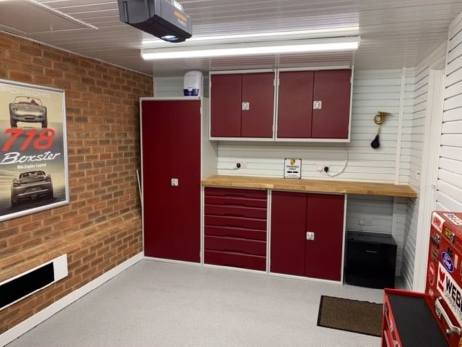 This Kent garage now has the WOW factor Modern Garage and Shed by Garageflex Modern