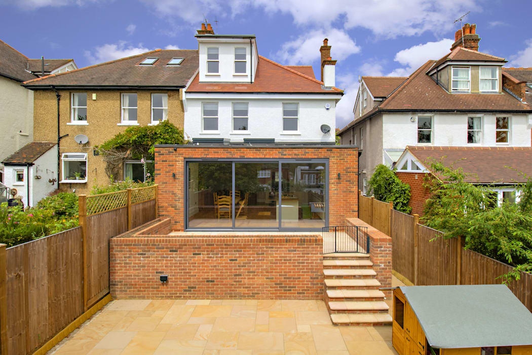 Highgate, Rear extension, Loft & Full Refurbishment Modern houses by Compass Design & Build Modern