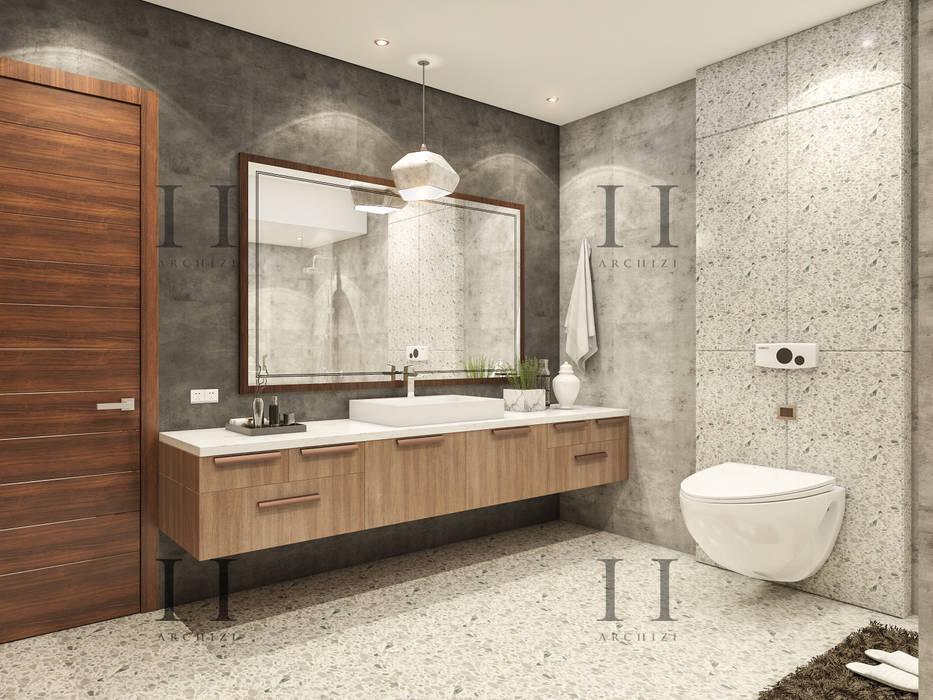 Rustic style bathroom by Archizi Rustic