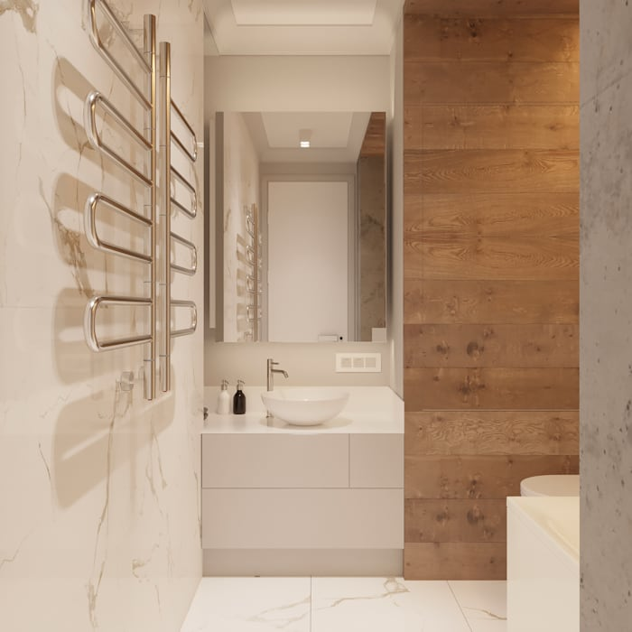 Scandinavian style bathroom by Vashantsev Nik Scandinavian