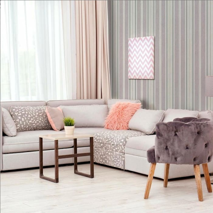 Papel Tapiz Decora Pro - Colección More 613122- Diseño Vertical Paredes y pisos de estilo minimalista de Decora Pro Minimalista
