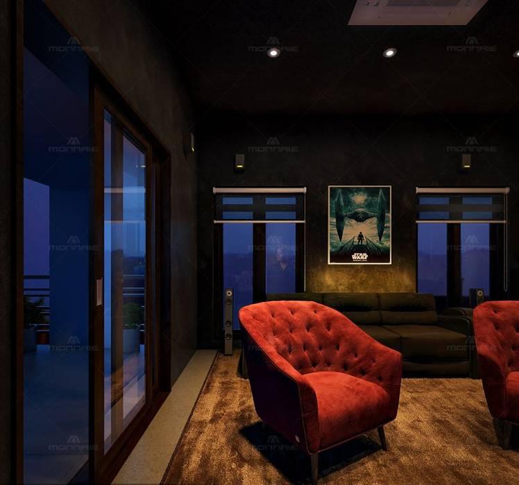 Ruang Media Klasik Oleh Monnaie Interiors Pvt Ltd Klasik