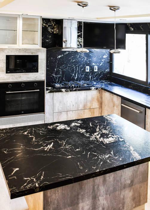 Equipos empotrados en mueble Cocinas modernas de UNO A UNO Moderno Mármol