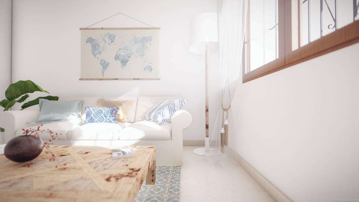 Ruang Keluarga Gaya Mediteran Oleh Beam Estudio Mediteran