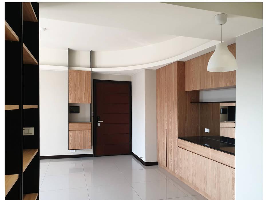 展昇奧斯卡 木皆空間設計 Minimalist corridor, hallway & stairs