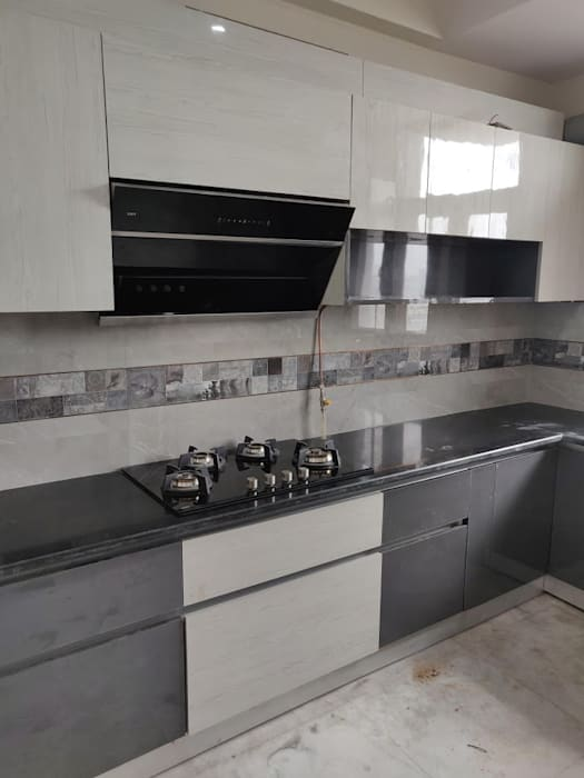 L shape kitchen by Design Kreations Modern Plywood
