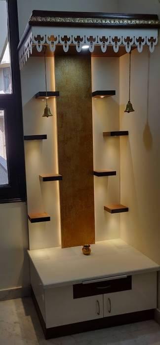Mandir Modern living room by Design Kreations Modern Plywood