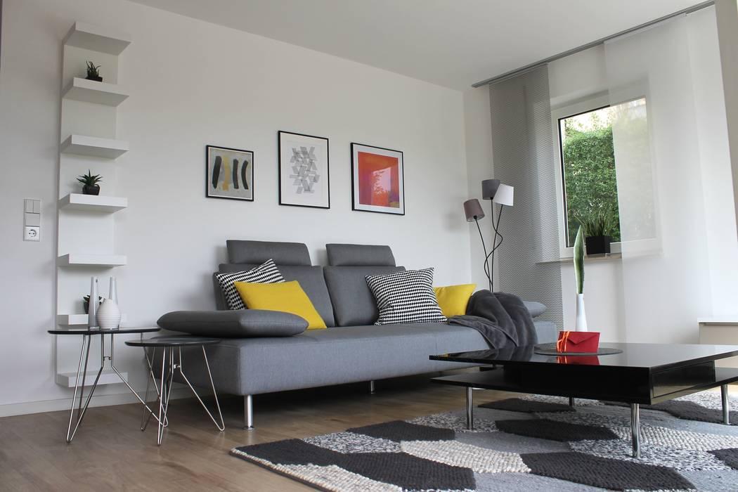 Schwarz - Grau - weiss - harmonie Moderne Wohnzimmer von Patricia Gómez Dextre Modern