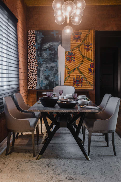 Eclectic style dining room by Luis Escobar Interiorismo Eclectic
