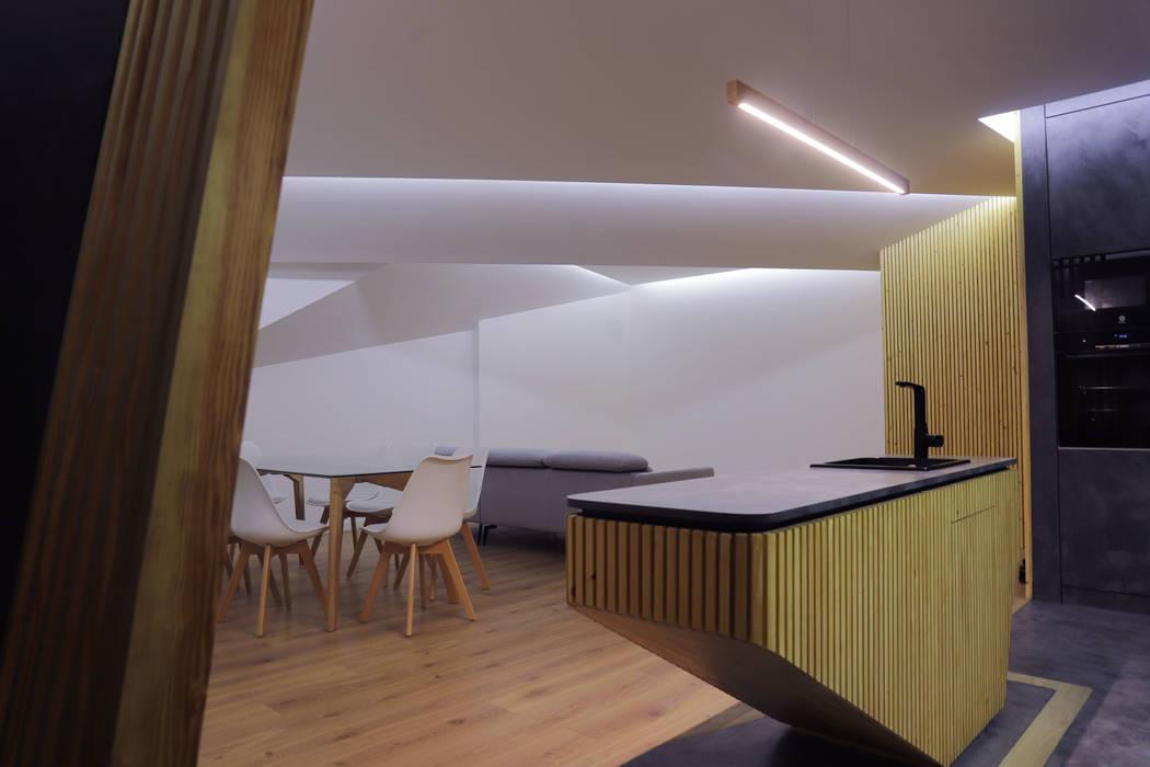 Remodelação de Apartamento T3 - Flow of Contrast por Office of Feeling Architecture, Lda Moderno