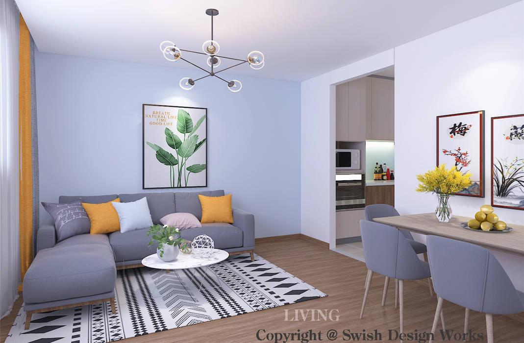 Ruang Keluarga Modern Oleh Swish Design Works Modern