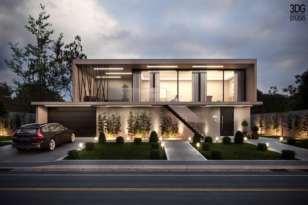 Case moderne di 3DG STUDIO - Render fotorealistico Moderno
