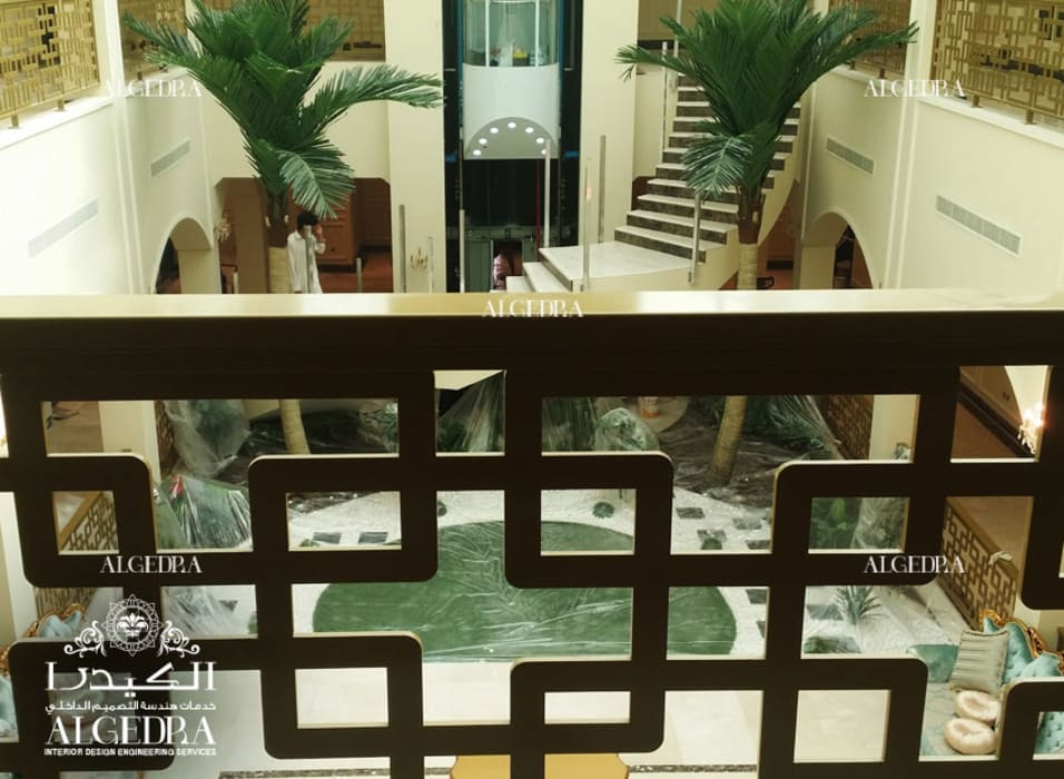 Luxury Palace Indoor design Tropical style corridor, hallway & stairs by Algedra Interior Design Tropical