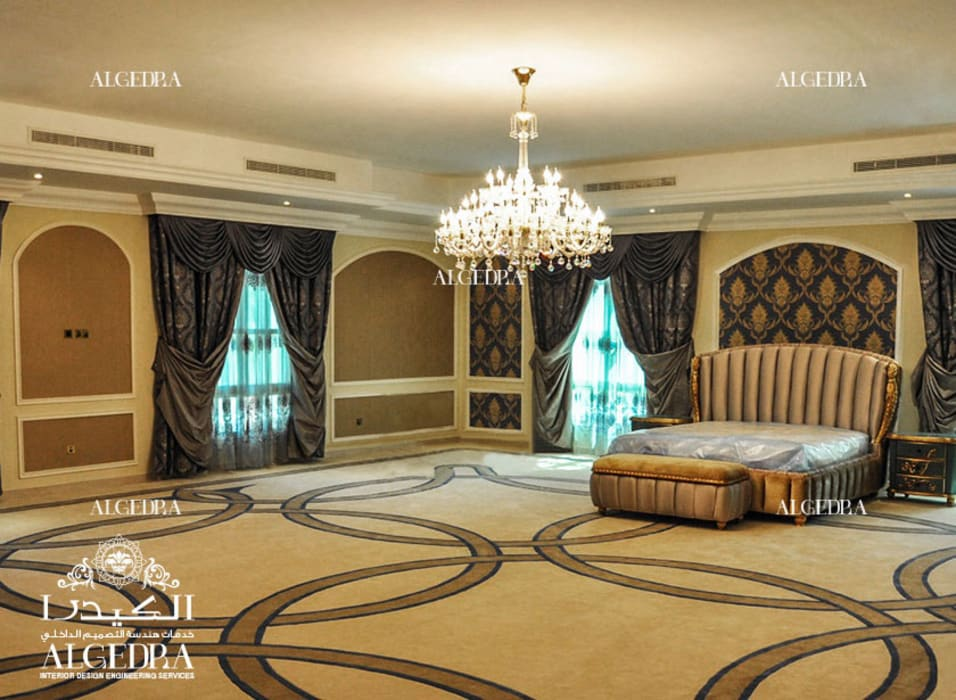Luxury Master Bedroom design Classic style bedroom by Algedra Interior Design Classic