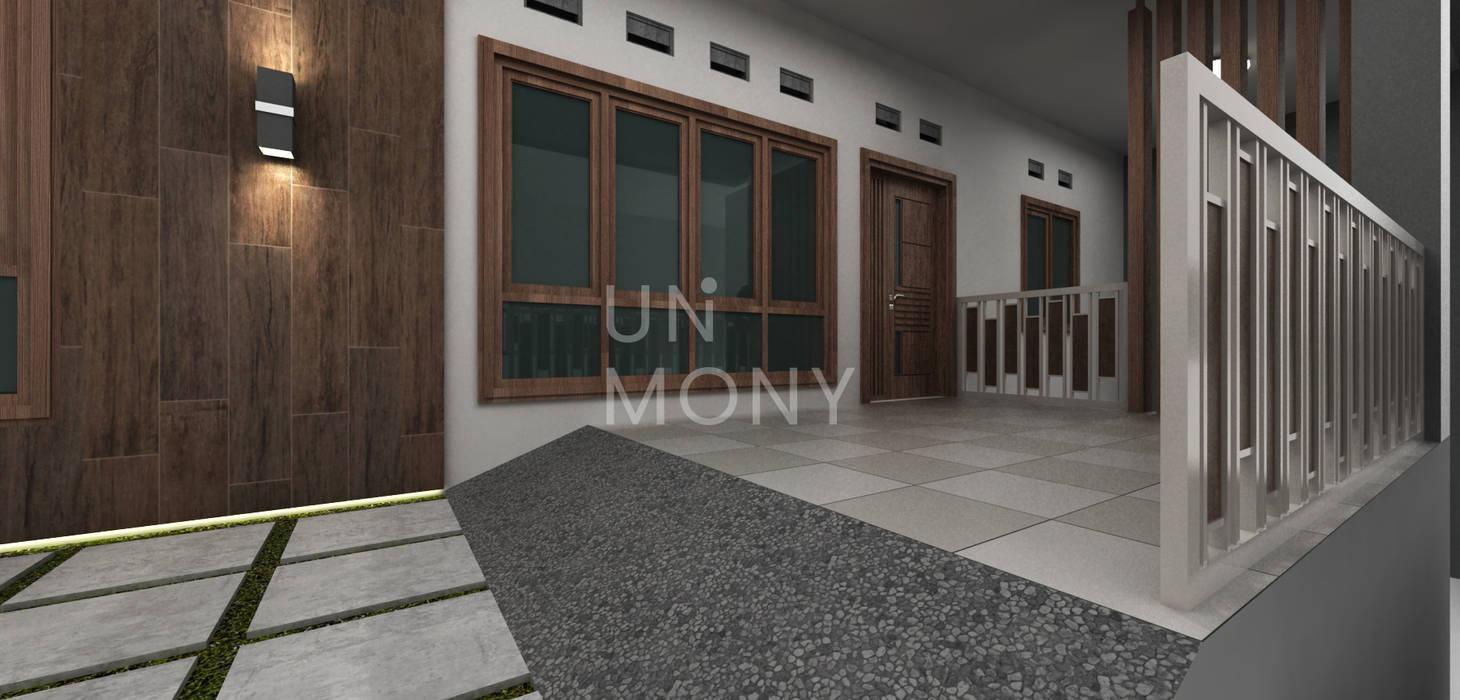 Exterior teras depan Balkon, Beranda & Teras Modern Oleh unimony.id Modern