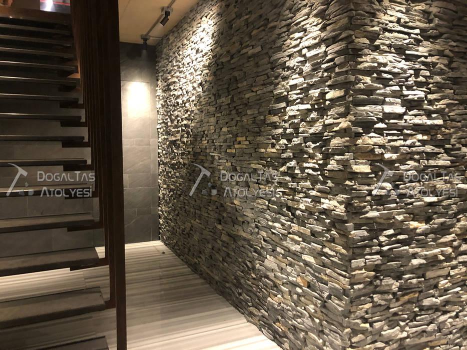 Doğaltaş Atölyesi Dinding & Lantai Modern Batu Grey