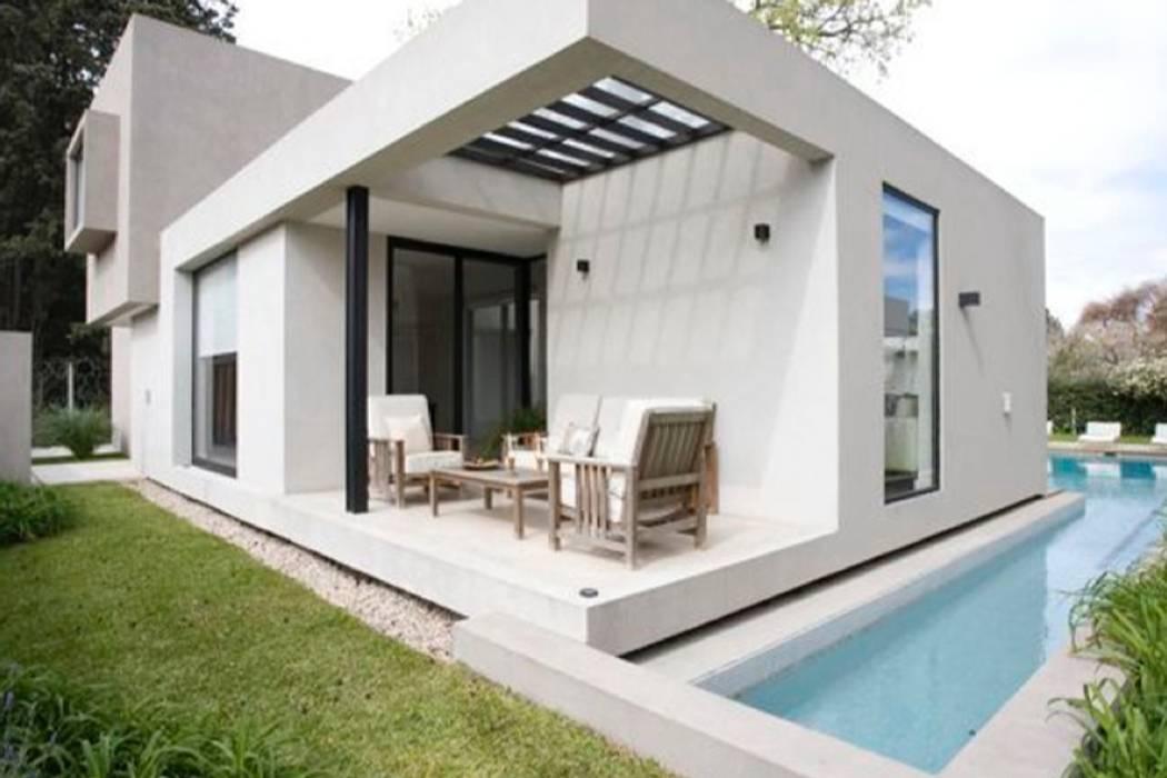 Piscine moderne par atlantico estudio de arquitectura y construccion Moderne Béton