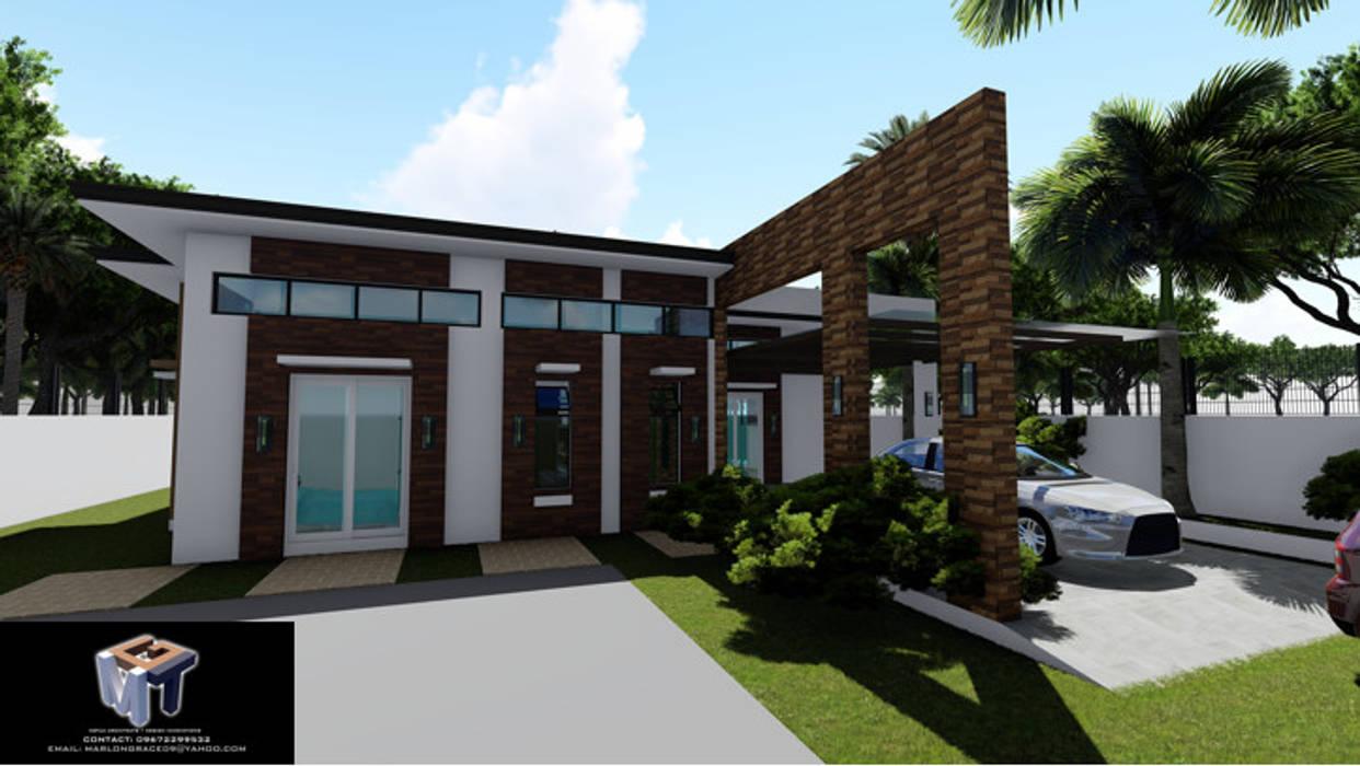MINIMALIST STYLE HOUSE by MGTua Architects + Design Innovations Minimalist Concrete