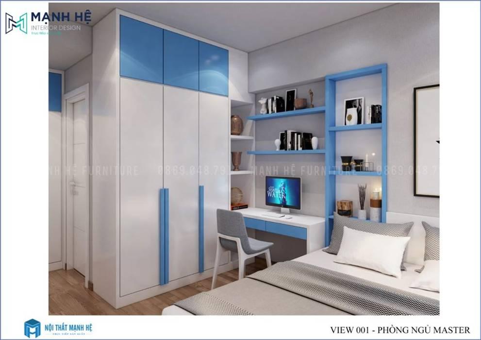 Kệ hở trang trí sát tường cho căn phòng thêm ấn tượng bởi Công ty TNHH Nội Thất Mạnh Hệ Hiện đại