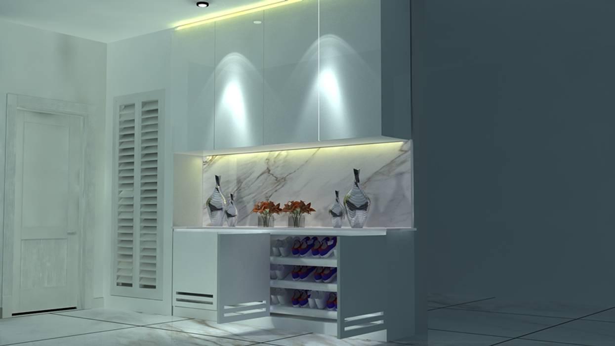ออกแบบตกแต่งภายในบ้าน 2 ชั้น PROFILE INTERIOR STUDIO บ้านเดี่ยว แกรนิต Grey