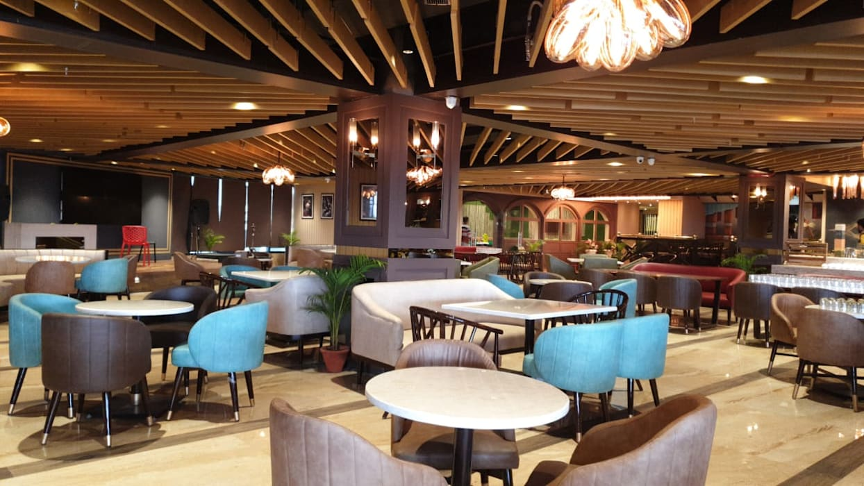 Restaurant Area Modern Bars Clubs By Hc Designs Modern Wood Wood Effect Homify
