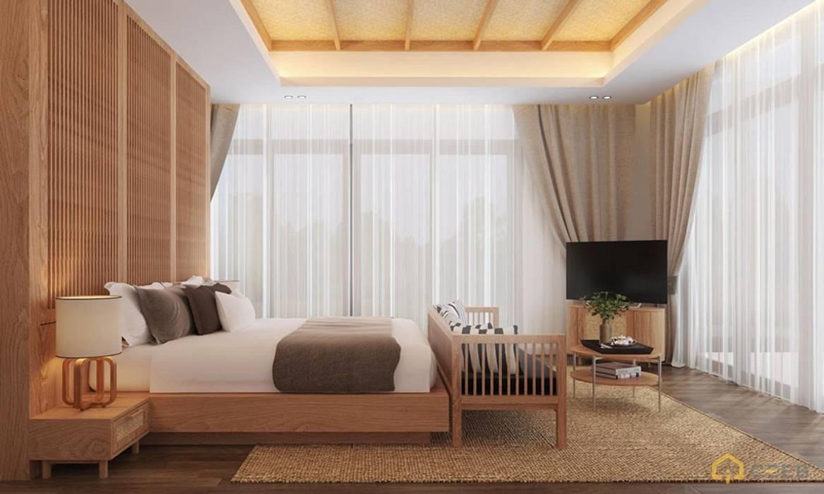Thiết kế kiến trúc nội thất biệt thự nghỉ dưỡng BMH do CEEB Architects thiết kế. bởi CÔNG TY THIẾT KẾ NHÀ ĐẸP SANG TRỌNG CEEB Đồng quê