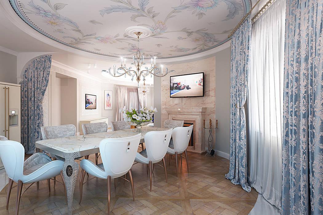 Classic style dining room by ДИЗАЙНЕР ИНТЕРЬЕРА ИРИНА МАКШАНЦЕВА Classic