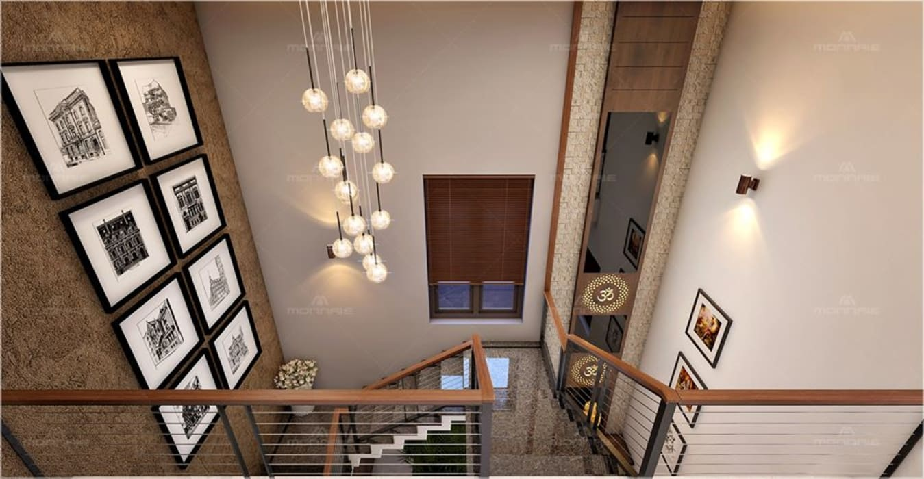 Modern attractive and stylish stair design by Monnaie Interiors Pvt Ltd Classic