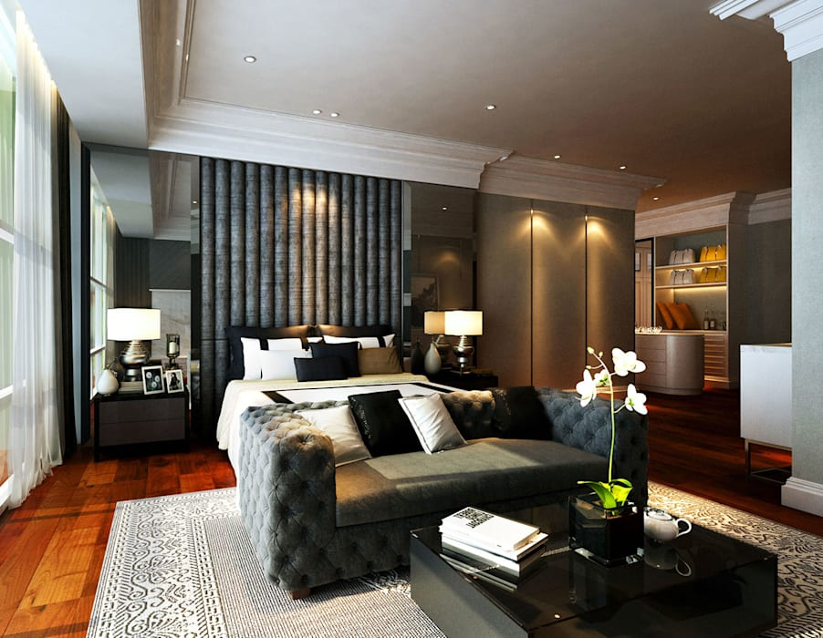 Modern Classical Master bedroom Classic style bedroom by Latitude Design Sdn Bhd Classic