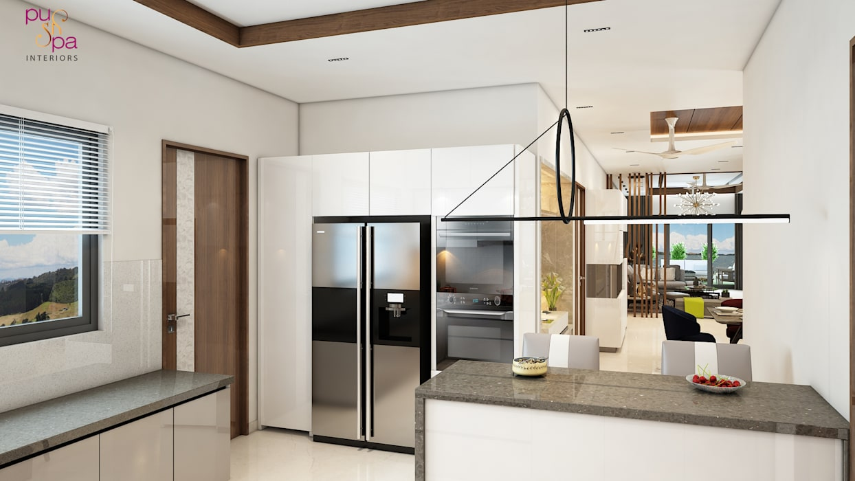 DSR Fortune Prime (Madhapur) Luxury Apartment Interior Designs Modern kitchen by Pushpa Interiors Modern