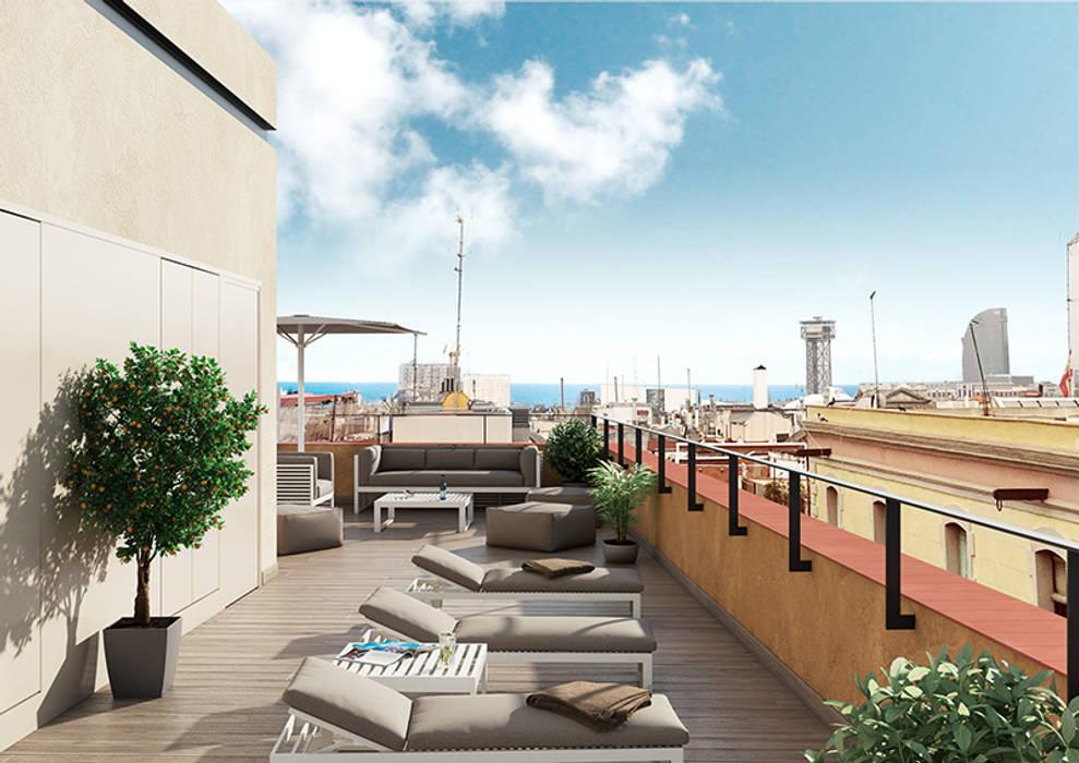 Baena Casamor Arquitectes BCQ, slp Modern terrace