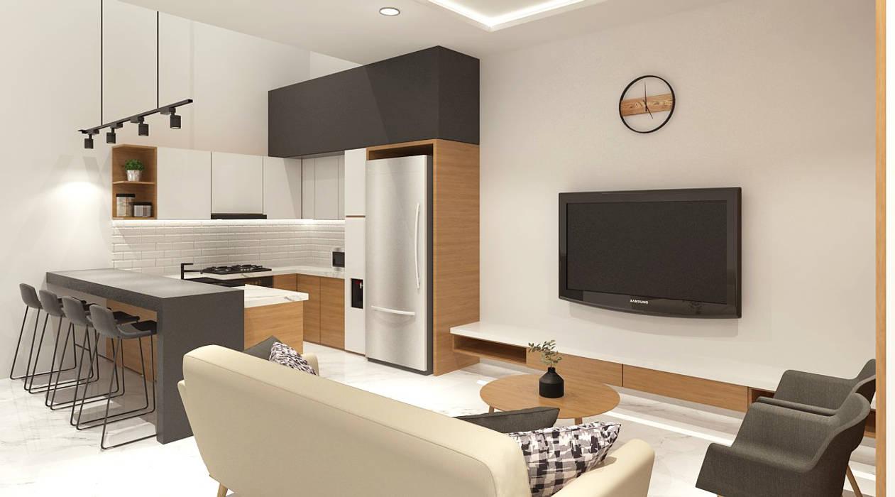 Tebet Barat house Ruang Keluarga Modern Oleh HAR studio Modern