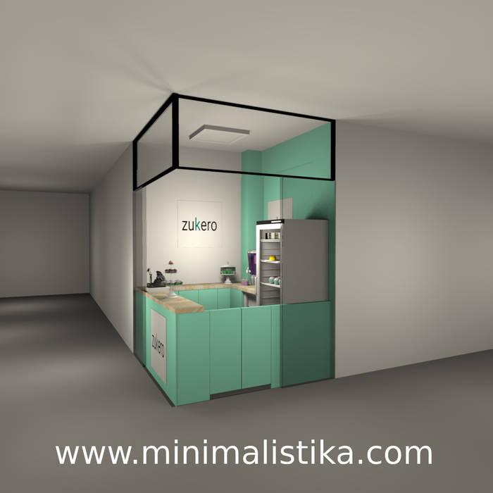 Local Comercial Pequeña Pastelería ZUKERO - Opción color Menta de Minimalistika.com Minimalista Aglomerado