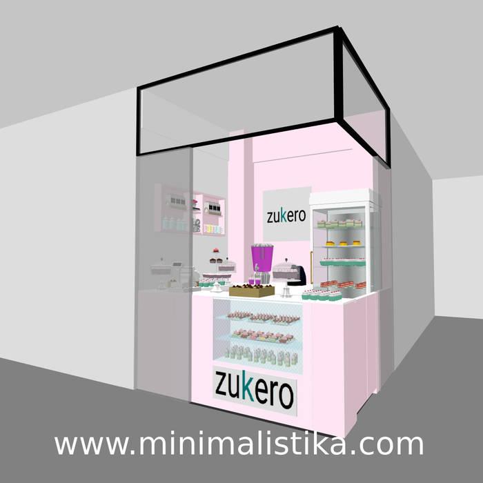 Local Comercial Pequeña Pastelería ZUKERO - Opción color Rosa pálido de Minimalistika.com Minimalista Aglomerado