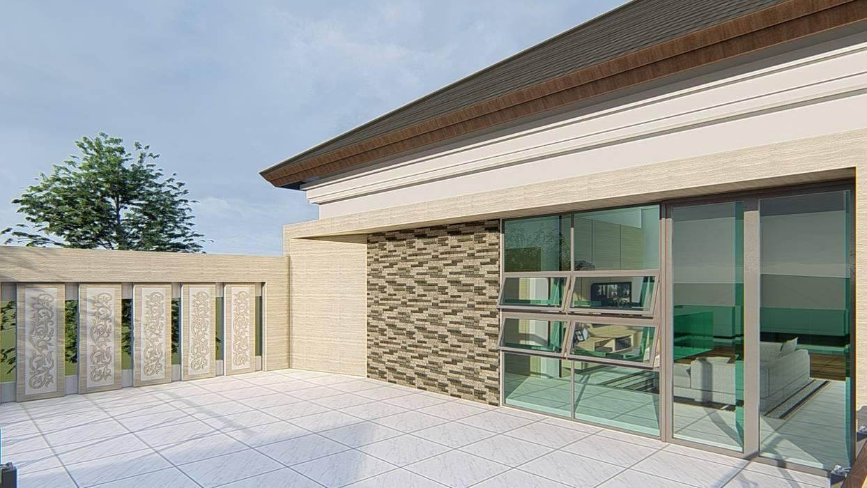 perspektif 3 ARK-chitect studio Rumah Modern