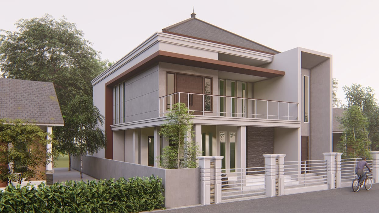 perspektif 2 ARK-chitect studio Rumah Gaya Industrial