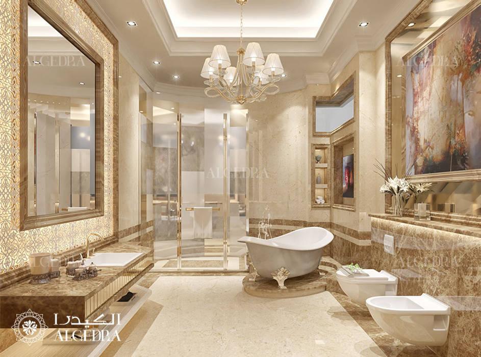 Bathroom interior design for Luxury Classic Style Villa in Abu Dhabi Classic style bathroom by Algedra Interior Design Classic