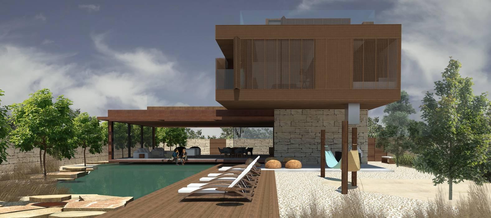 Casa Dunas, Jericoacoara/CE por RAWI Arquitetura + Design Moderno
