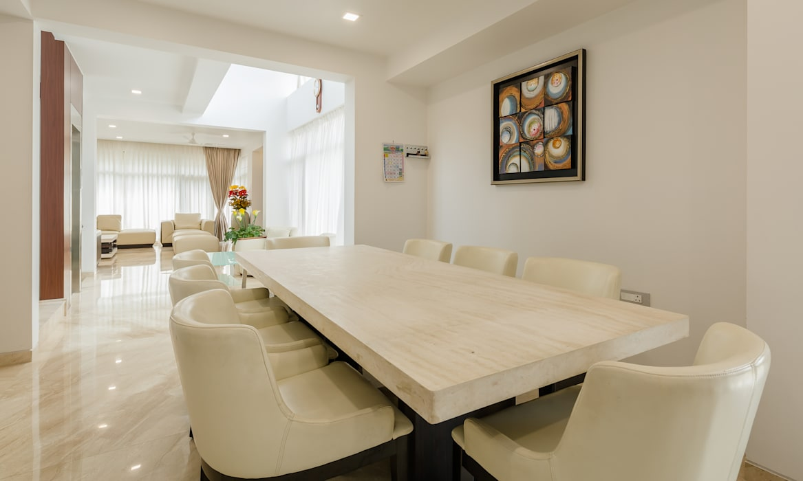 Dinning room Modern dining room by Make My Nest Modern Marble