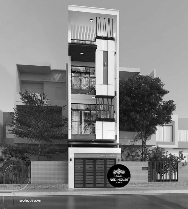Thiết kế nhà phố đẹp 3 tầng hiện đại tại quận 11 tphcm bởi NEOHouse