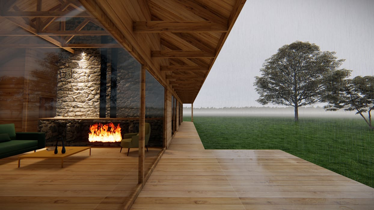 Casa Purranque Casas estilo moderno: ideas, arquitectura e imágenes de Ponce Yaconi Arquitectura & BIM Moderno