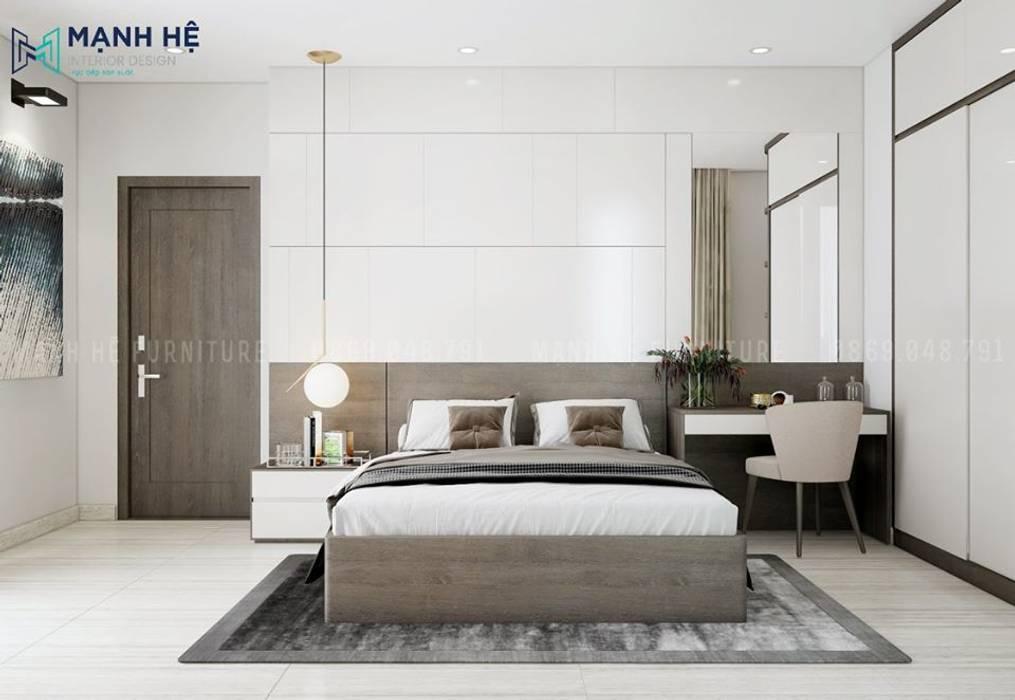 Để căn phòng luôn mới mẻ, sang trọng thì ốp Acrylic là sự lựa chọn hoàn hảo Công ty TNHH Nội Thất Mạnh Hệ Phòng ngủ nhỏ