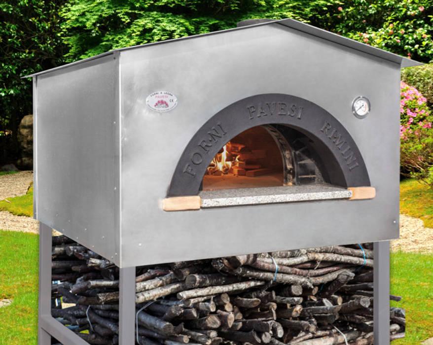 Forno domestico tipo casetta di Forni Pavesi Rimini Classico Alluminio / Zinco