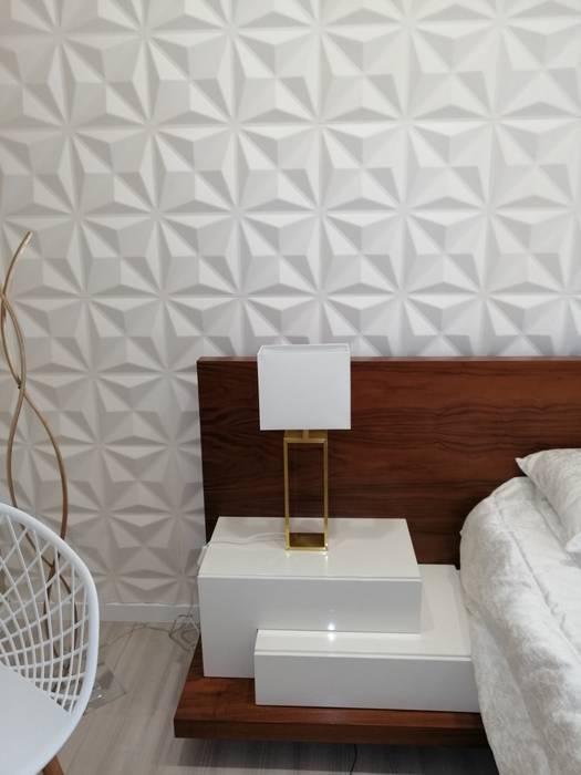 Revestimento 3D pvc Paredes e pisos modernos por Ana Pitra Interiores Moderno Compósito de madeira e plástico