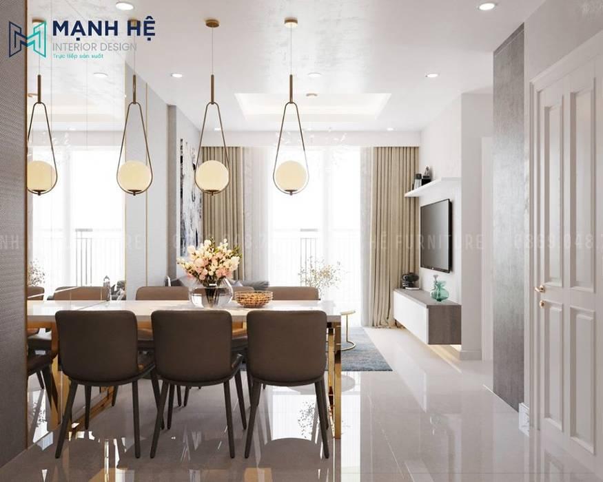 Bộ bàn ăn 6 ghế sang trọng cho bữa cơm gia đình ấm áp bởi Công ty TNHH Nội Thất Mạnh Hệ Hiện đại