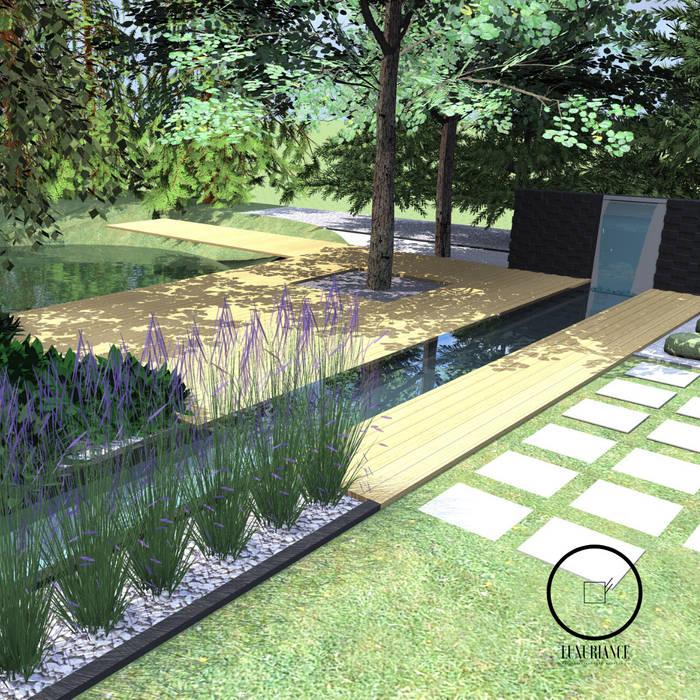 duży nowoczesny ogród Warszawa Nowoczesny ogród od Luxuriance Nowoczesny