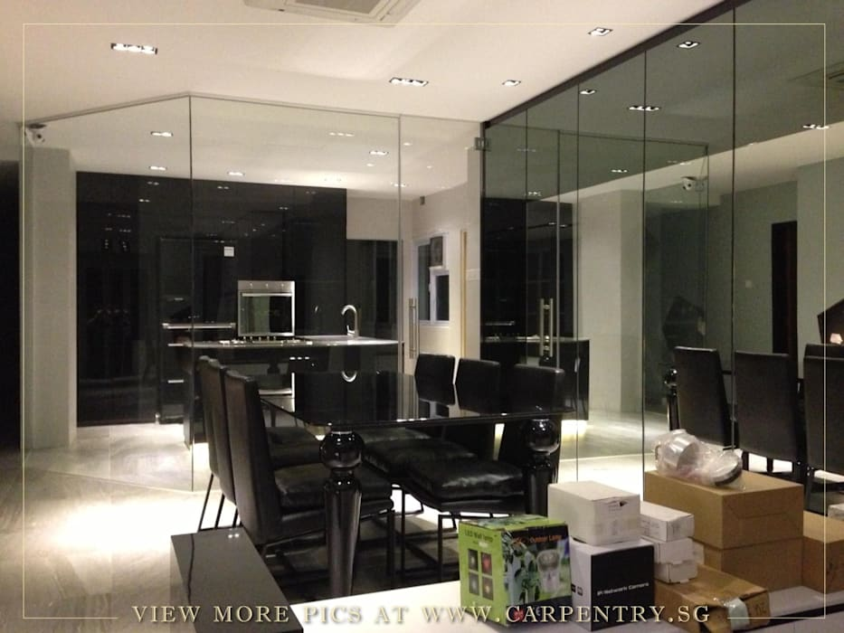 Dining Room Modern dining room by Singapore Carpentry Interior Design Pte Ltd Modern Marble
