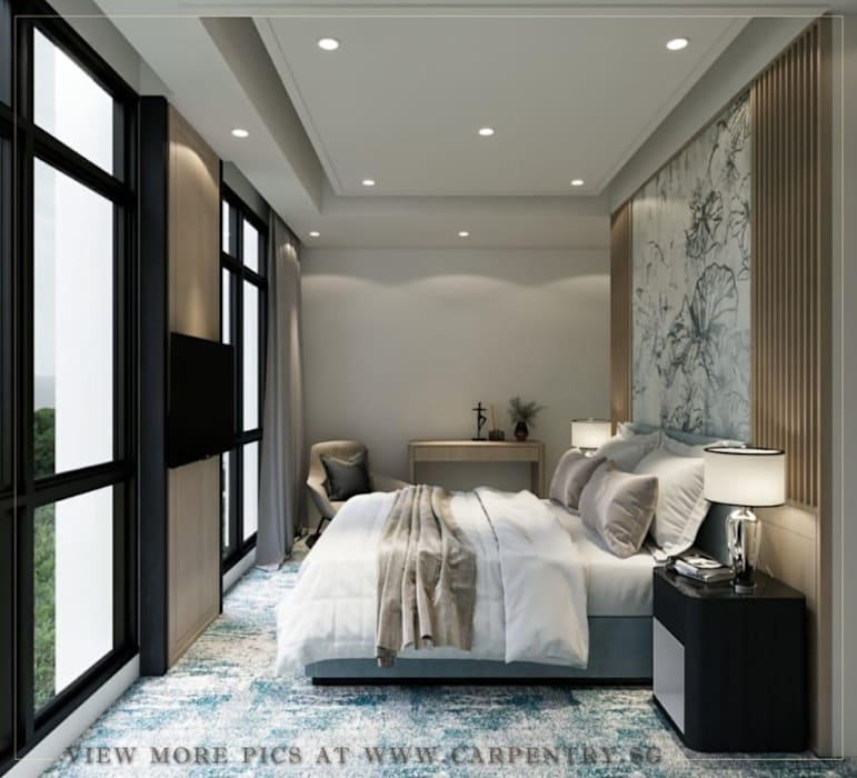 Bedroom Modern style bedroom by Singapore Carpentry Interior Design Pte Ltd Modern Marble