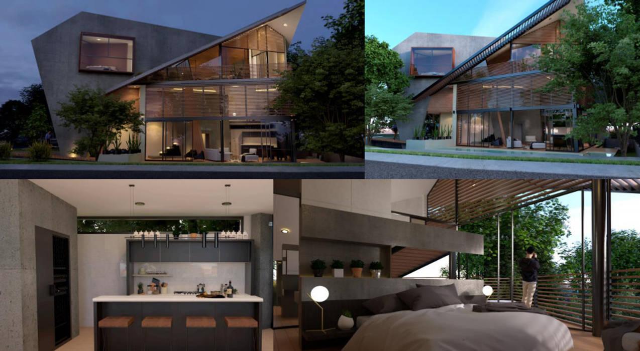 現代房屋設計點子、靈感 & 圖片 根據 Mattone Marketing 現代風
