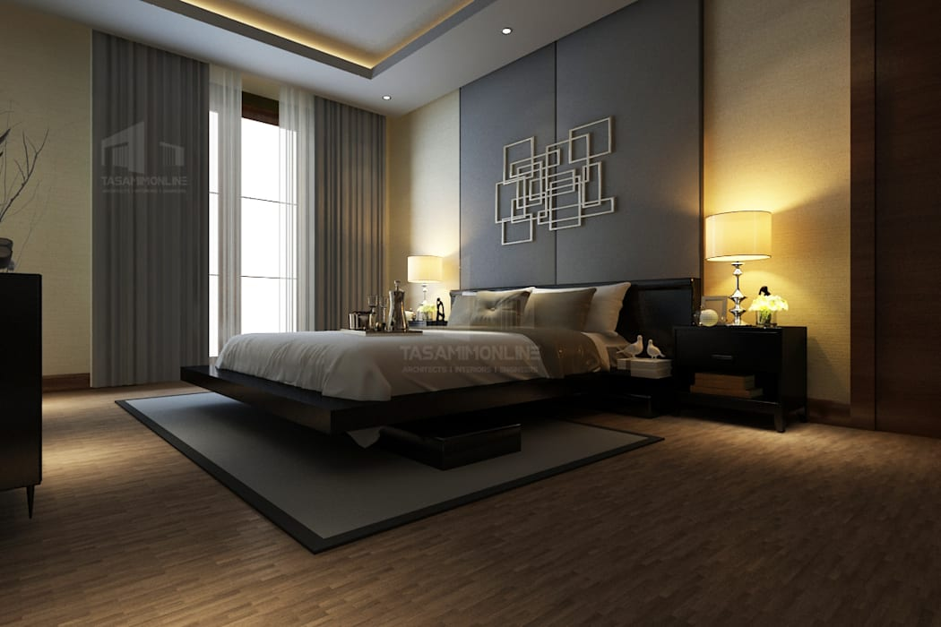 تصميم غرفة النوم من Tasamim Online تصاميم أونلاين حداثي
